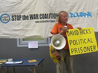 Stop the War Coalition (Australia) - Stop the War Coalition speak-out against David Hicks' imprisonment in Guantanamo Bay.