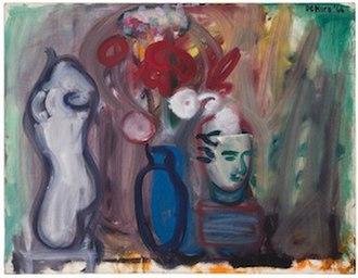 Robert De Niro Sr. - Flowers in a Blue Vase by Robert De Niro Sr.