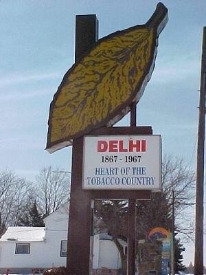 Delhi, Ontario - Image: Delhi Leaf