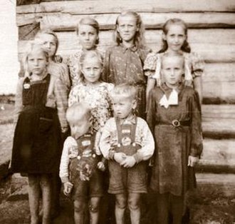Operation Priboi - Estonian deportees in Siberia — 28% of deportees were children under the age of 16