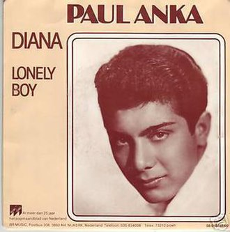 Lonely Boy (Paul Anka song) - Image: Diana (song)