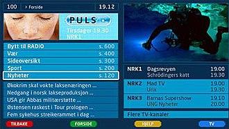 Teletext - NRK digital teletext