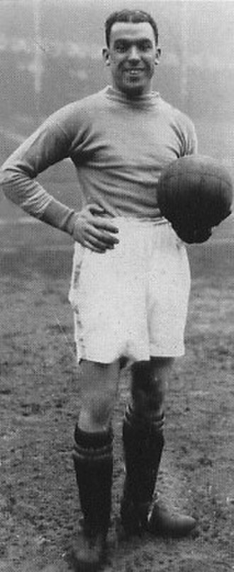 Dixie Dean - Dean at Goodison park while playing for Everton.