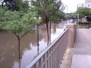 Museum of Art Cedar Rapids - Image of the 2008 flood