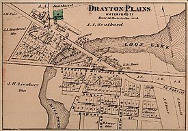 Map of Drayton Plains in 1872