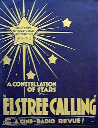 Elstree - A poster for Elstree Calling, a film made in 1930, named after the film studios in Borehamwood