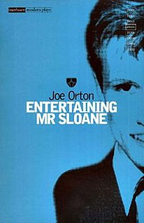 <i>Entertaining Mr Sloane</i> play written by Joe Orton