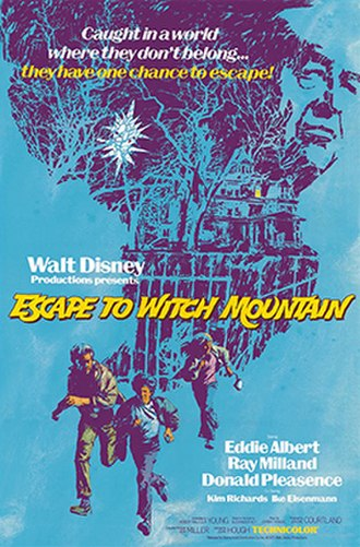 Escape to Witch Mountain (1975 film) - Theatrical release poster