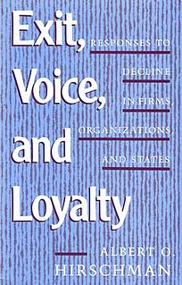 <i>Exit, Voice, and Loyalty</i> book by Albert O. Hirschman