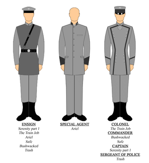 Alliance (Firefly) - Uniforms worn by various characters