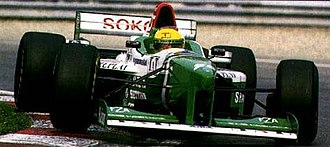 Forti - A new livery signalled a major sponsorship deal with Shannon, but did nothing to save the team from its collapse mid-season. This is Luca Badoer driving the FG03 at the 1996 Canadian Grand Prix.