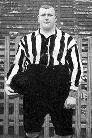 "William Foulke (footballer) - William ""Fatty"" Foulke, seen here in Sheffield United colours"