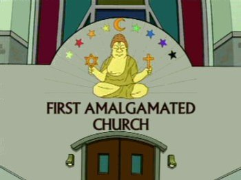 The logo of the First Amalgamated Church, feat...