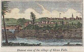 """Glens Falls, New York - """"Glenn Falls"""", 1841"""