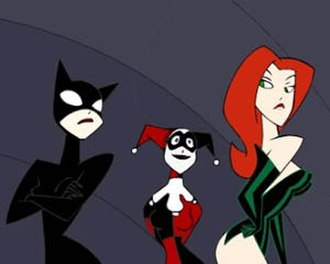 Gotham Girls - Catwoman, Poison Ivy, and Harley Quinn, with actresses Adrienne Barbeau, Diane Pershing and Arleen Sorkin reprise their roles from Batman: The Animated Series and The New Batman Adventures.