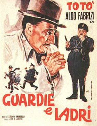 Cops and Robbers (1951 film) - Italian film poster
