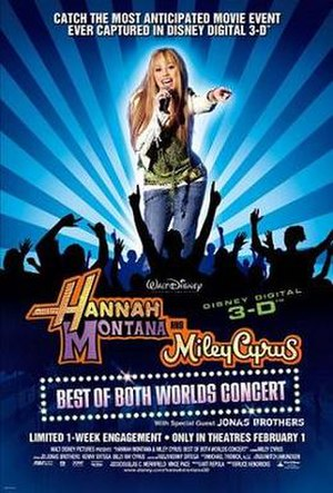 Hannah Montana and Miley Cyrus: Best of Both Worlds Concert - Theatrical release poster