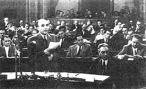 András Hegedüs - András Hegedüs in the Parliament in summer 1956.