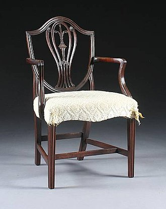 George Hepplewhite - Image: Hepplewhite style Mahogany Elbow Chair