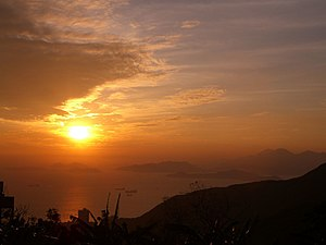 sunset from Hong Kong Victoria Peak