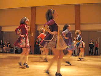 Irish dance - Irish step dancers from Scoil Rince na Connemara in Wilkes-Barre, PA, dance at the HUB, Penn State University.