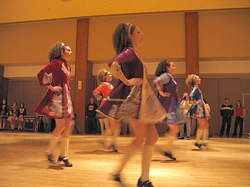 Irish step dancers from Scoil Rince na Connema...