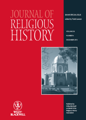 Journal of Religious History - Image: Journal of Religious History