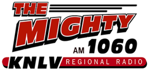 KNLV (AM) - Image: KNLV The Mighty AM1060 logo