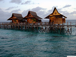 Some chalets in Kapalai Island