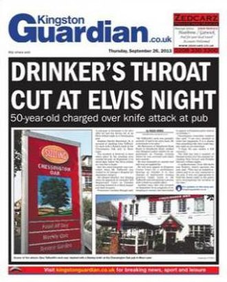 Kingston Guardian - Image: Kingston Guardian front page Sep 26 2013