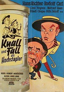 <i>Knall and Fall as Imposters</i> 1952 film by Hubert Marischka