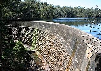 Lake Parramatta - Masonry arch dam wall