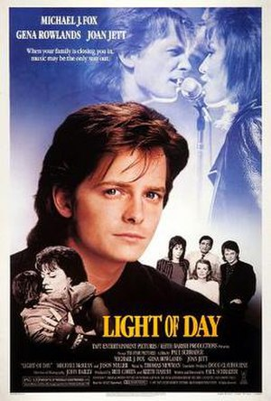 """Light of Day - The theatrical release poster. The ad copy reads:  """"When your family is closing you in,  music may be the only way out."""""""