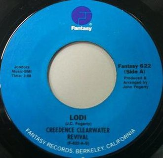 Lodi (Creedence Clearwater Revival song) - Image: Lodi label