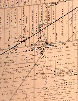 Bells Corners - Historic map of Bell's Corners