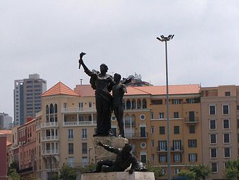 Martyrs' Statue in Martyrs' Square