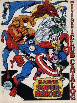 Marvelmania International - First Marvelmania Club Catalog. Cover art by Jack Kirby