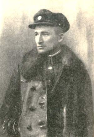 Andriy Atanasovych Melnyk - Young Melnyk in officer's uniform
