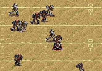Mutant League Football - In-game screenshot.