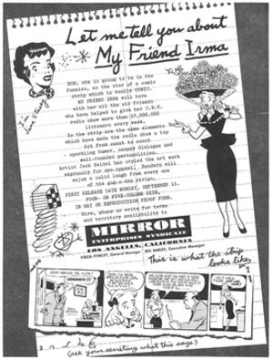 My Friend Irma (entertainment property) - Image: Myfriendirmaad