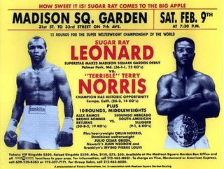 Terry Norris vs. Sugar Ray Leonard