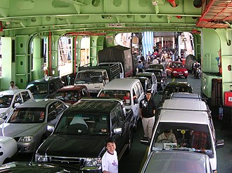 Rapid Ferry - A typical vehicle deck