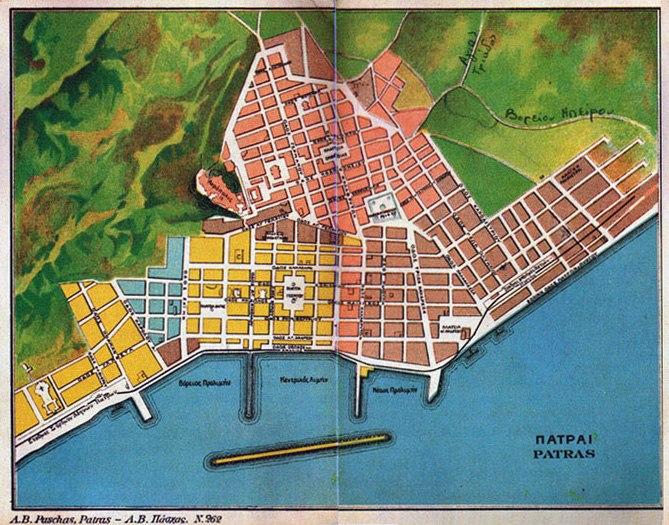 Patras old city plan