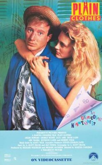 Plain Clothes (1988 film) - Home video release poster
