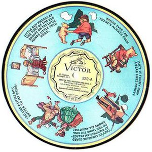 Winnie-the-Pooh - RCA Victor record from 1932 decorated with Stephen Slesinger, Inc.'s Winnie-the-Pooh