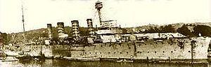 Royal Indian Navy mutiny - HMIS Akbar at Bombay Harbour