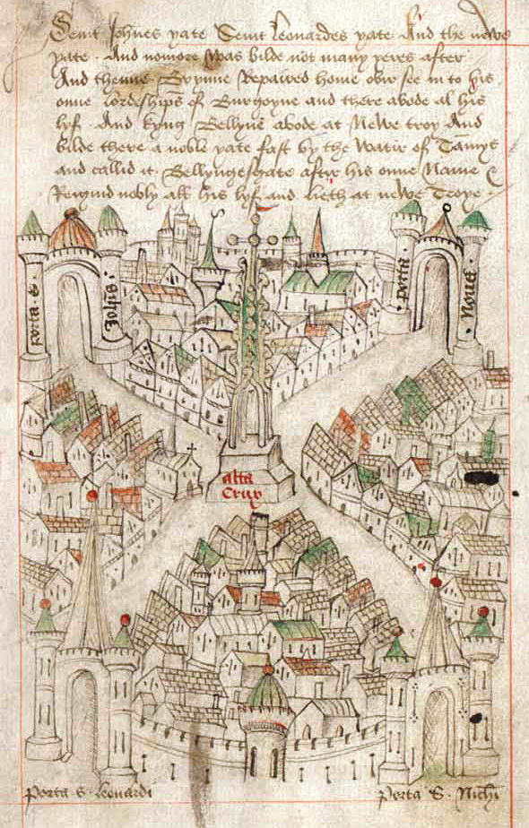 Robert Ricart's map of Bristol