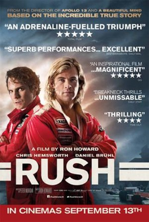 Rush (2013 film) - British release poster