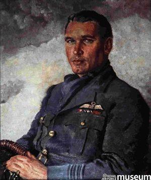 Adolph Malan - Sailor Malan, colour oil painting by Cuthbert Orde