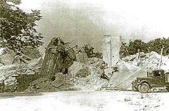 History of Christianity in Ukraine - Ruins of the St. Michael's Golden-Domed Monastery after its destruction in 1936
